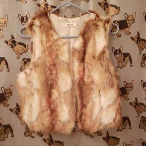 Faux fur vest size S